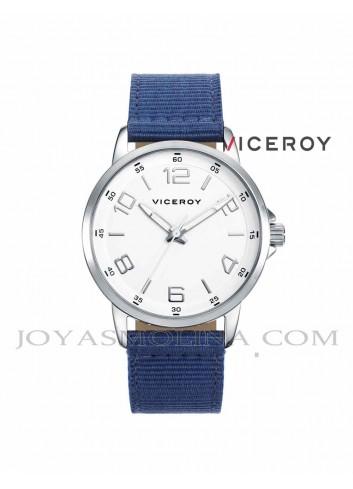 Reloj niño Viceroy correa azul y piel marron