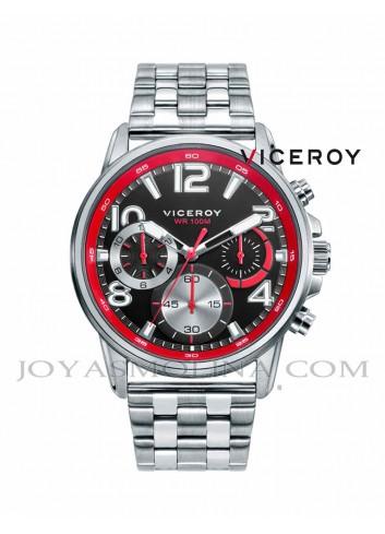 Reloj niño Viceroy con cadena y esfera negra y roja