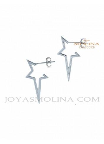 Pendientes de plata en forma de estrella moda