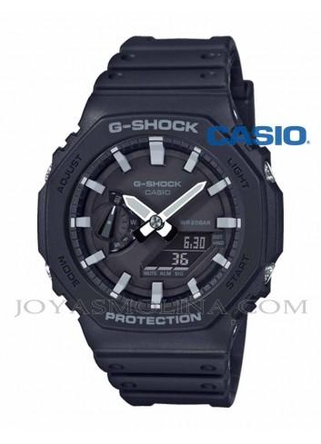 Reloj Casio G-SHOCK negro agujas gris