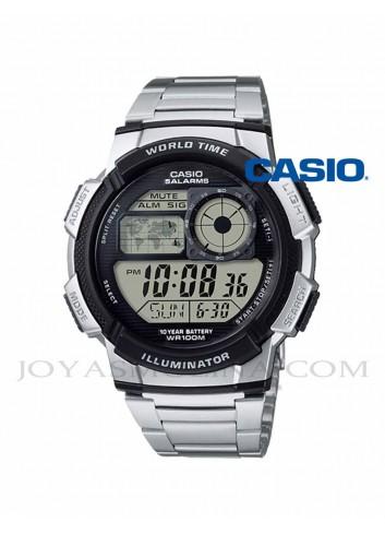 Reloj Casio digital retro hombre plateado