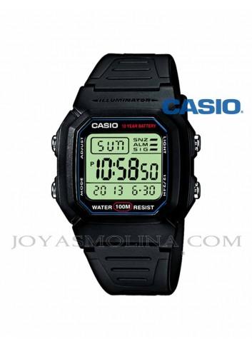 Reloj Casio digital negro cuadrado