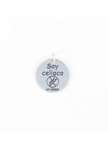 Colgante SOY CELIACO plata 18mm