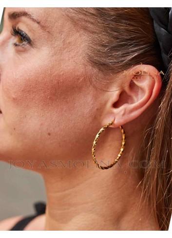 Pendientes de moda dorados para mujer