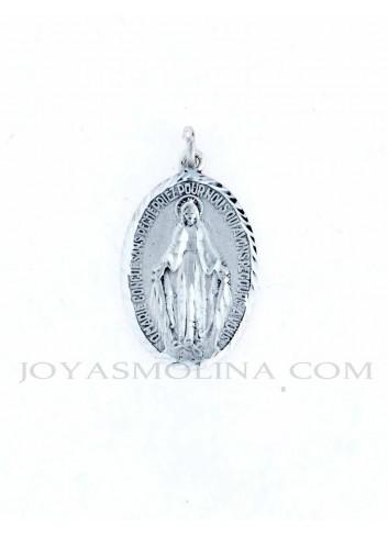 Medalla plata Virgen Milagrosa grande