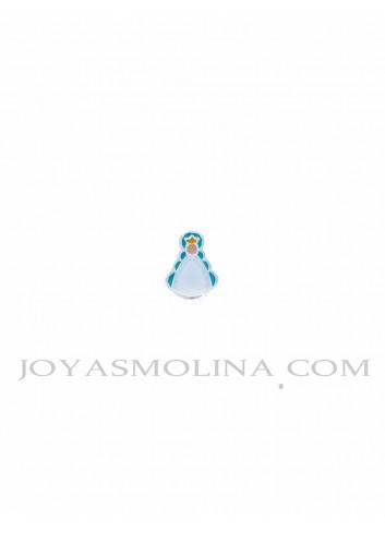 Abalorio Virgen del Rocío plata turquesa