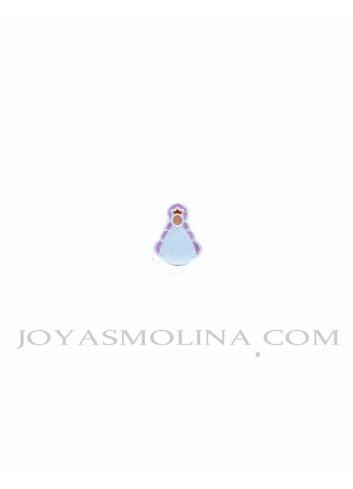 Abalorio Virgen del Rocío plata rosa