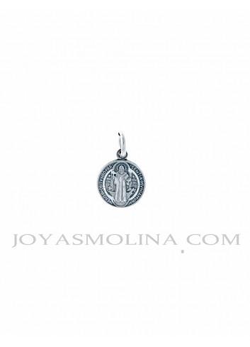Medalla San Benito plata mini
