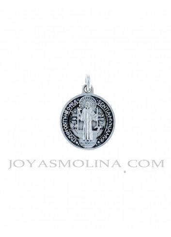 Medalla plata San Benito grande