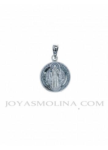 Medalla plata San Benito mediana