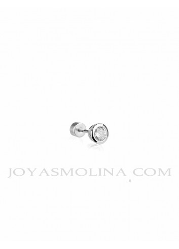 Piercing plata circonita con bocel