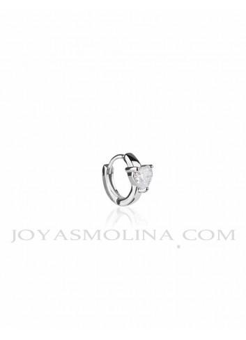 Piercing aro plata corazon circonitas