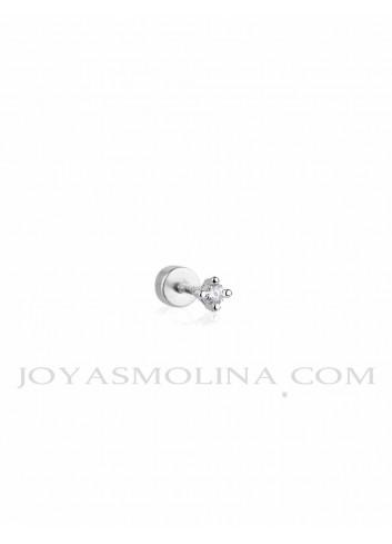 Piercing plata circonitas 4 garras mini
