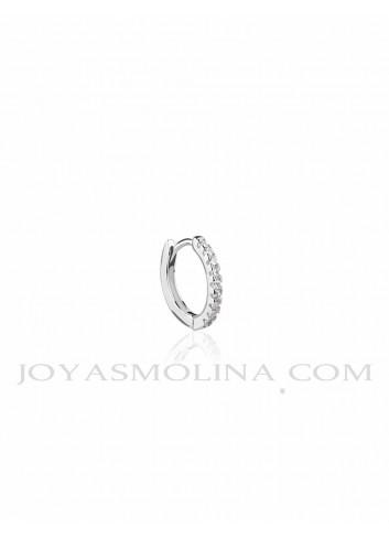 Piercing aro plata circonitas 12mm