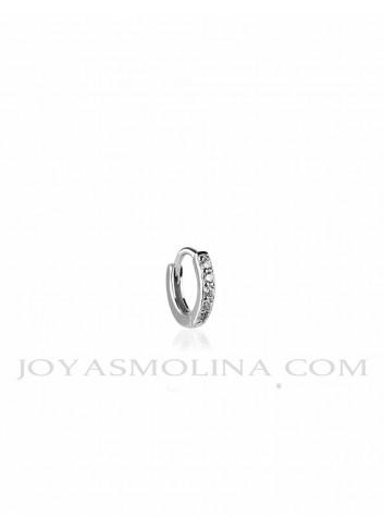 Piercing aro plata circonitas 10mm