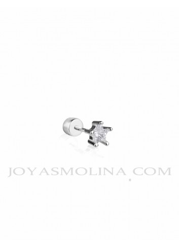Piercing plata estrella circonita mini