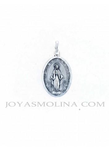 Medalla plata Virgen Milagrosa mediana
