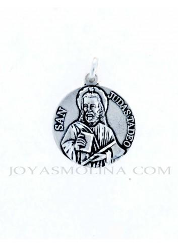 Medalla San Judas Tadeo plata grande