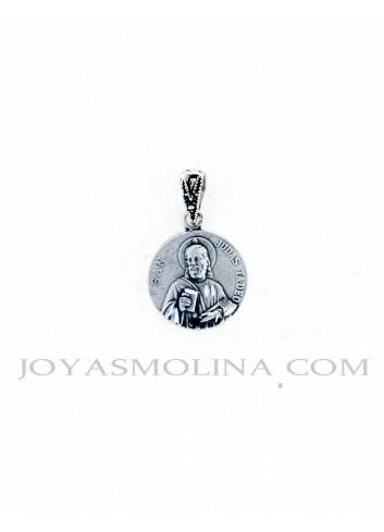Medalla San Judas Tadeo mediano plata