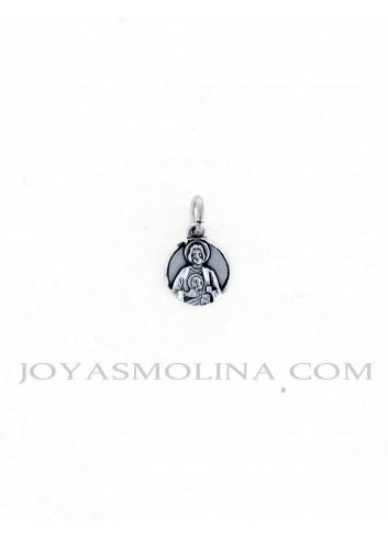 Medalla San Judas Tadeo mini plata
