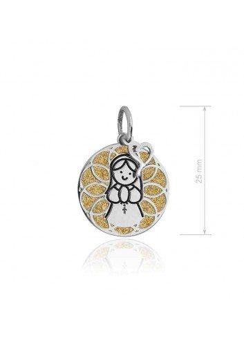 Medalla Virgen niña plata sobre dorado Soul 301062