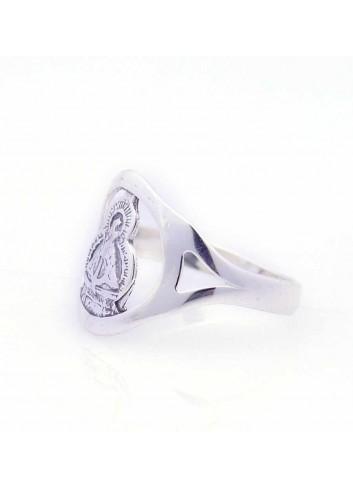 Sortija Virgen de la Cabeza plata circulo