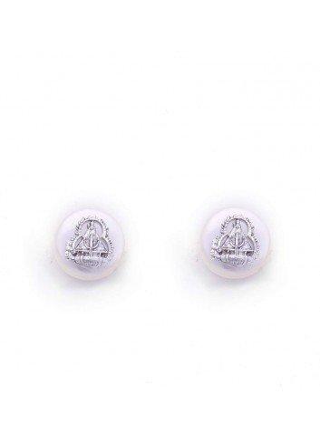 Pendientes Virgen de la Cabeza sobre perla 1cm