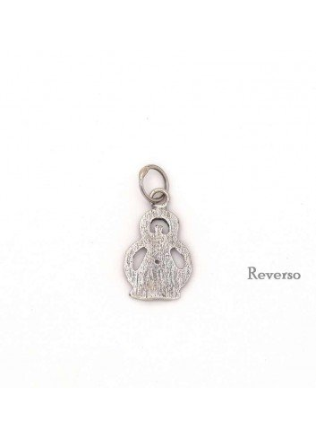 Medalla plata Virgen de la Cabeza silueta 13x25